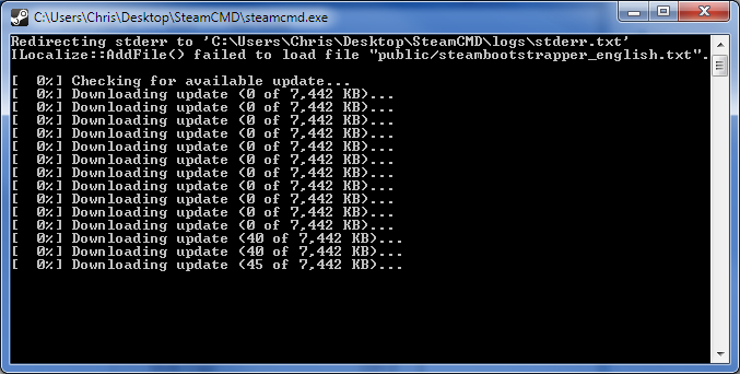 Picture of Step 2: Run SteamCMD and Update