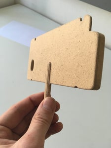 Wood Peg Cutting and Glueing