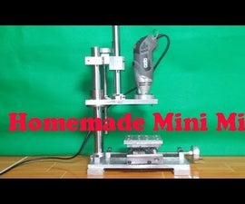Homemade Micro Vertical Milling Machine DIY Z Axis and Complete