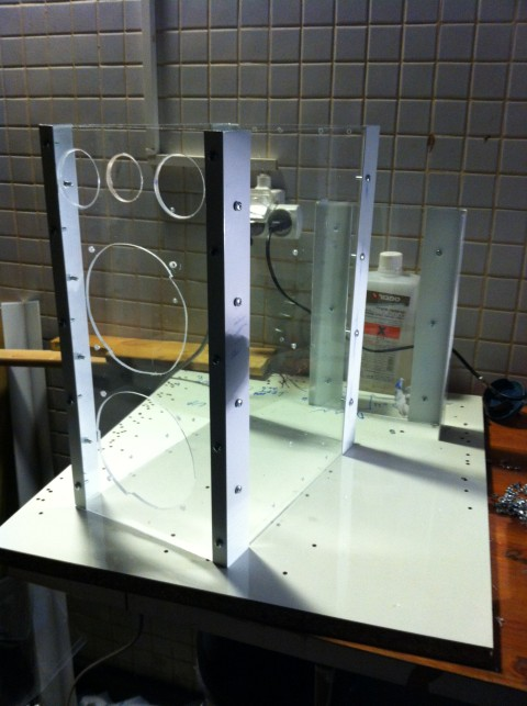 Picture of Pealing Off the Protective Nylon of the Plexiglas