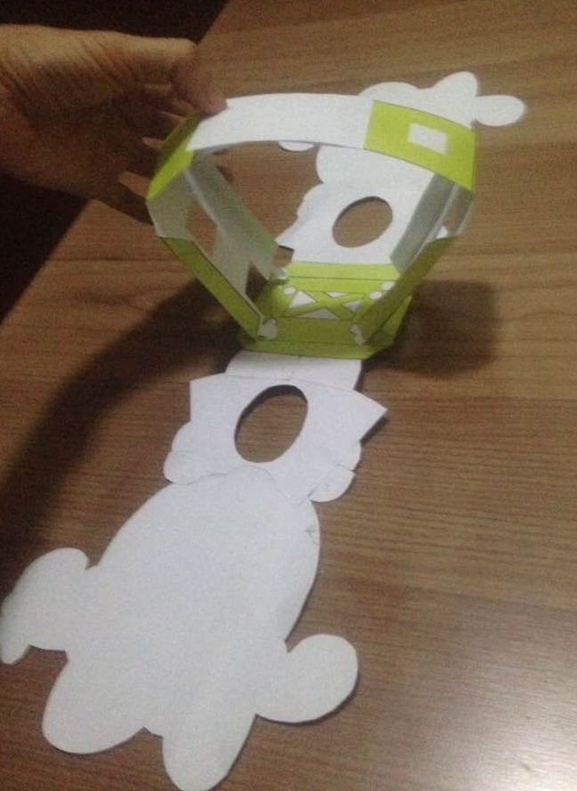 Picture of Glue the 2 Brackets Onto the 2 Sides of Lantern