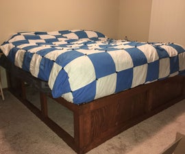King Platform Bed From 2x4's and Plywood