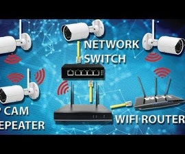 How to Extend NVR Signal (IP Cam Repeater, Network Switch and WiFi Router/Repeater)