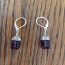 Wire Wrapped Swarovski Cube Earrings