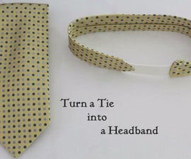 Turn an Old Tie into a Headband