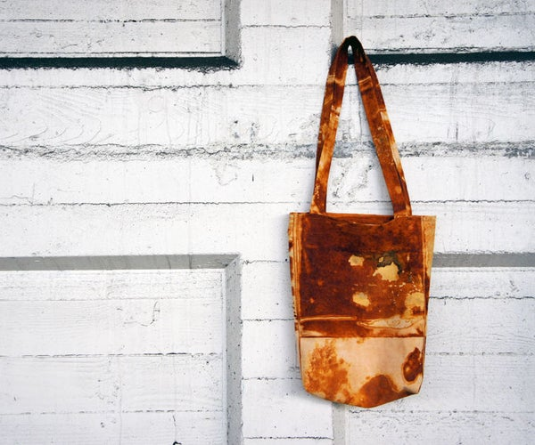 Rust Dyed Tote Bag