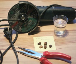 Baobab germination - the angle grinder method