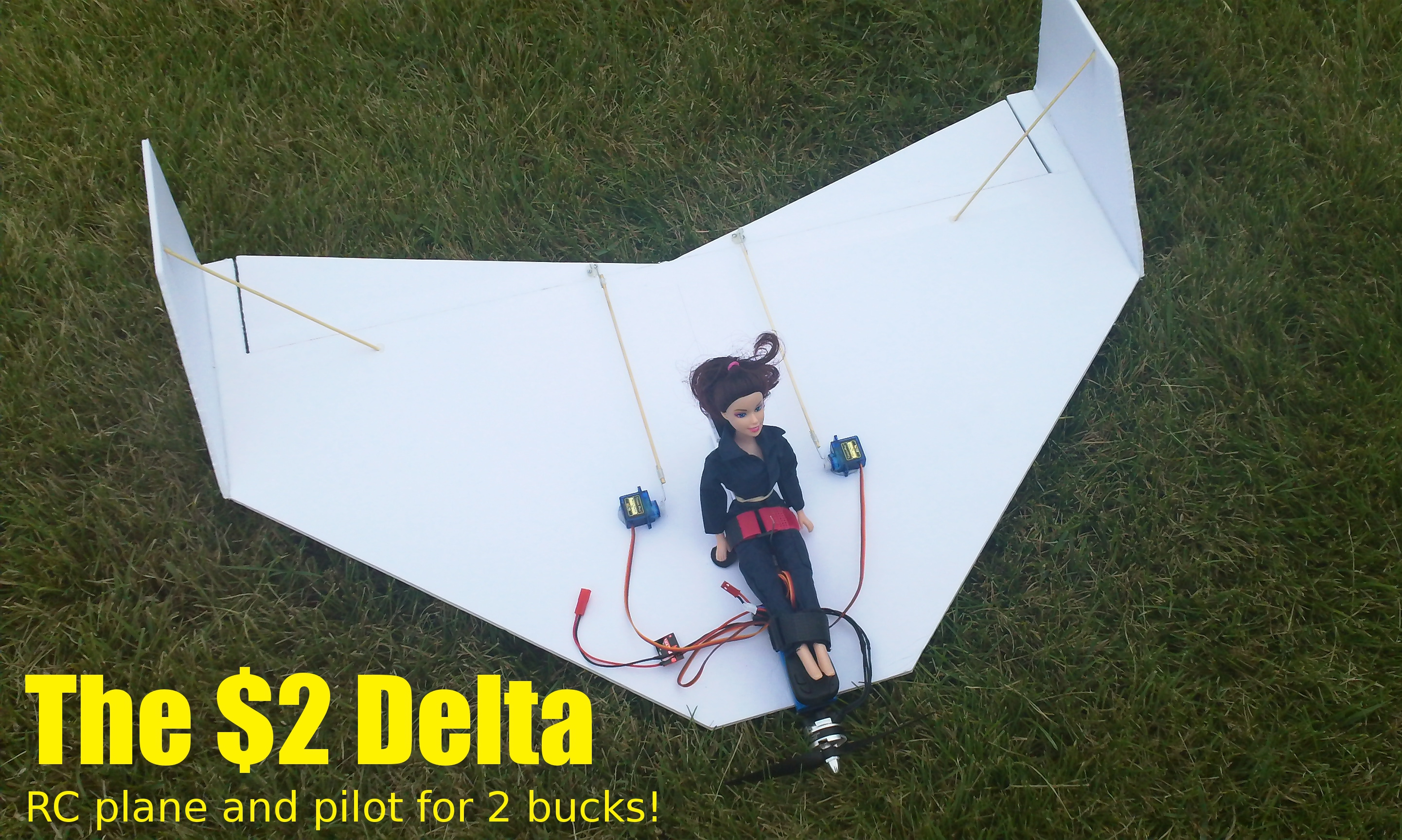 Picture of The $2 Delta - RC Plane and Pilot for 2 Bucks!