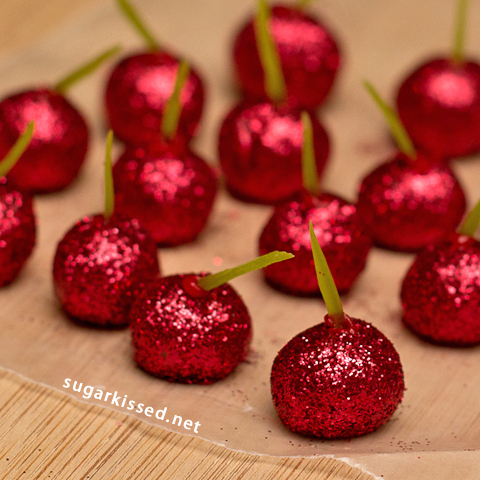 Picture of How to Make Sparkly Cherry Candy Decorations