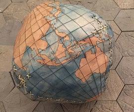 Laser Cut Leather Globe