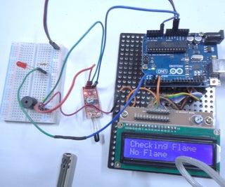 Arduino Flame Sensor Fire Alarm System (4 Steps)