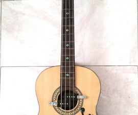 Acoustic Guitar to Electric Bass Guitar Conversion