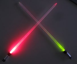 Lightsaber knitting needles