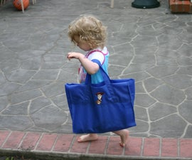 Re-purpose a Shopping Bag to a Child's Bag