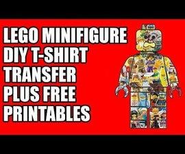乐高迷你图T恤Transfer加上免费印刷品