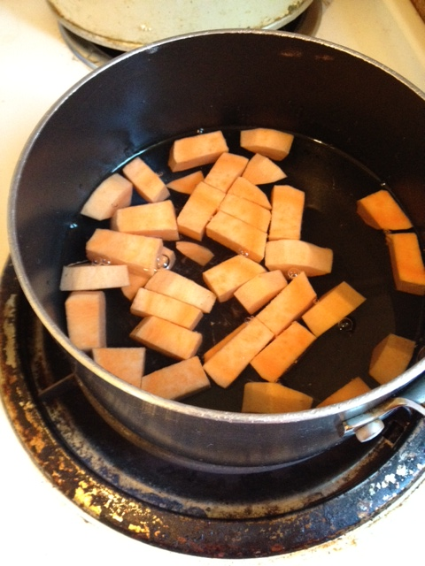 Picture of Making the Sweet Potato Puree