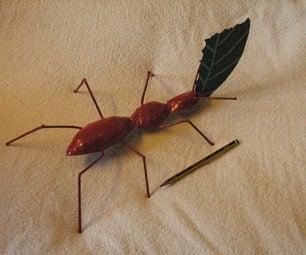 Metal Leaf Cutter Ant Sculptures, Large