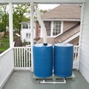 Elevated Dual Barrel Rainwater Collection System