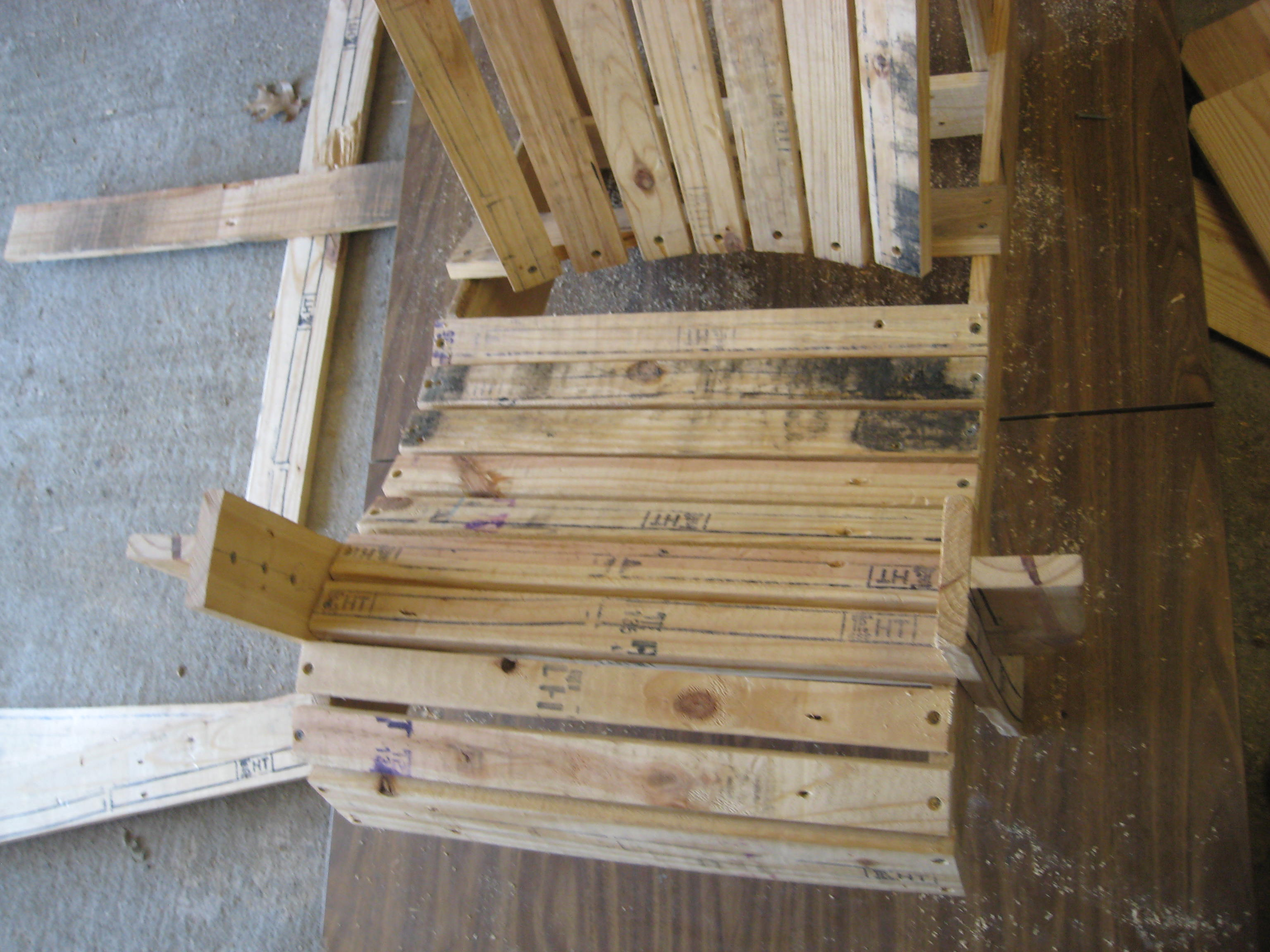 Picture of Attach the (9) Seat Slats.