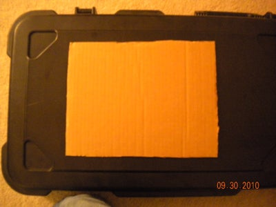 Tape Cutout to Case.