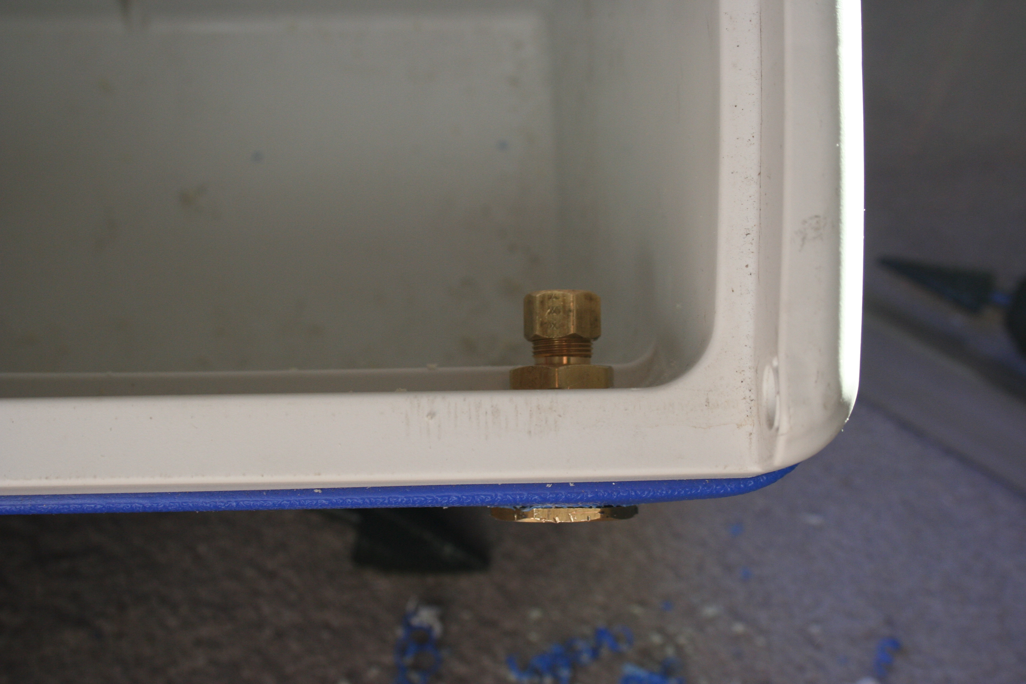 Picture of Drill Out the Cooler for the Inlet.