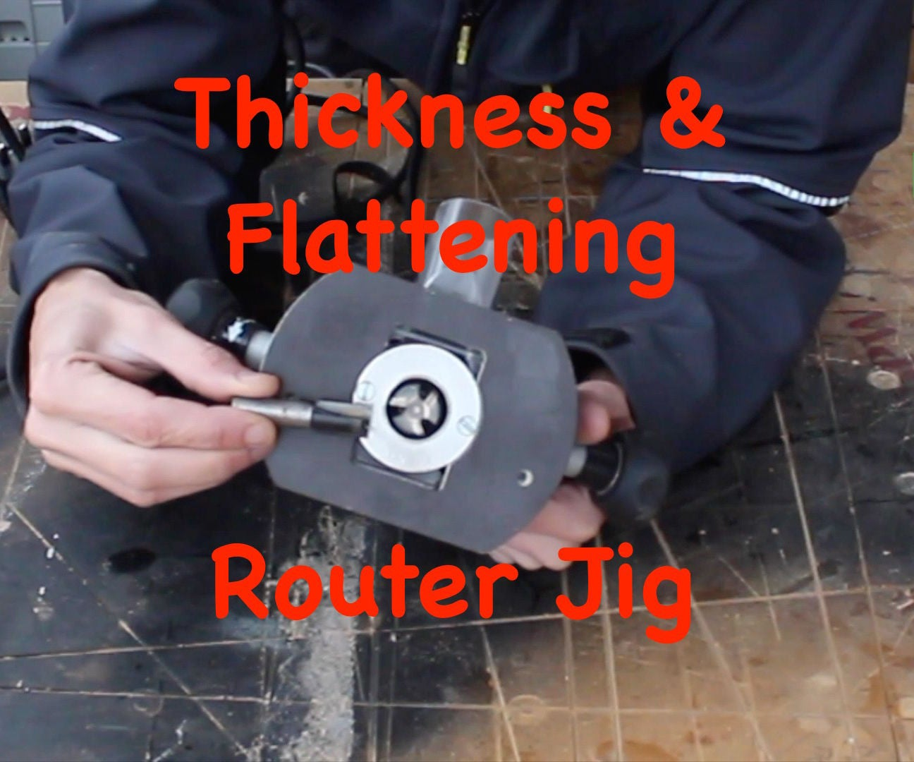 How to Use a Router Planer Surfacing Jig to Thickness Flatten Rough Sawn Timber or Thick Lumber