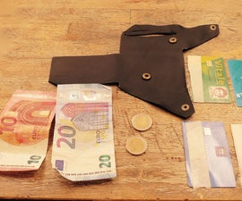 """Leather Wallet """"origami"""