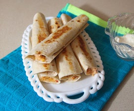 Spicy Creamy Chicken Taquitos