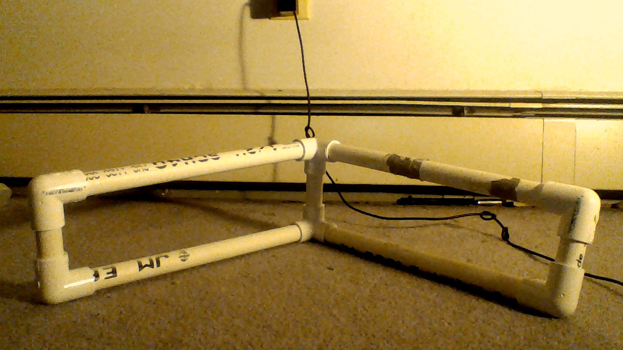 Picture of The Last Step to Creating the Letter P and V Out of PVC Pipe