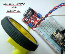 Interface L298N Using NodeMCU