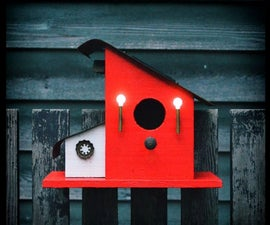 Bird House With Night Lights