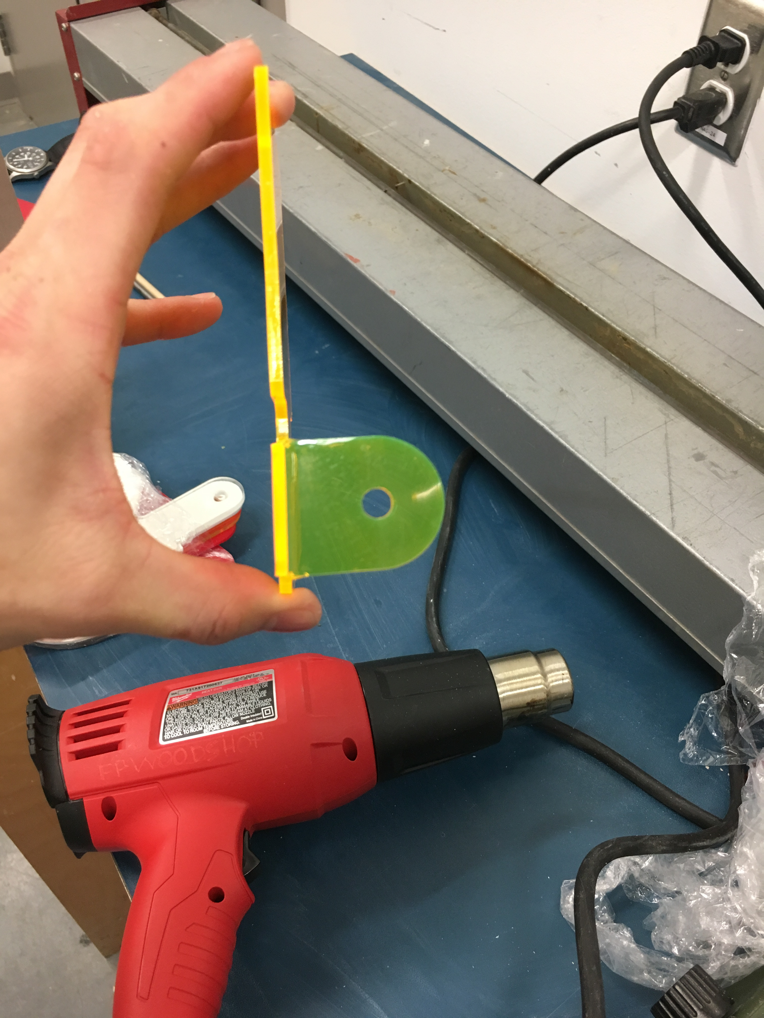 Picture of Bending the Acrylic