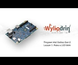Blink a LED on Intel Galileo and Visual Programmig