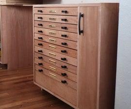 Cabinet W/ Dovetails & Secret Drawer