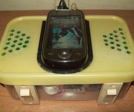 Cellphone Charging / Music Station (Reuse Old Desktop Speakers)