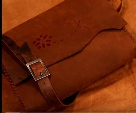 Rustic Leather Laptop Bag