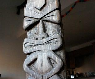 Chisel Carved Tiki Idol