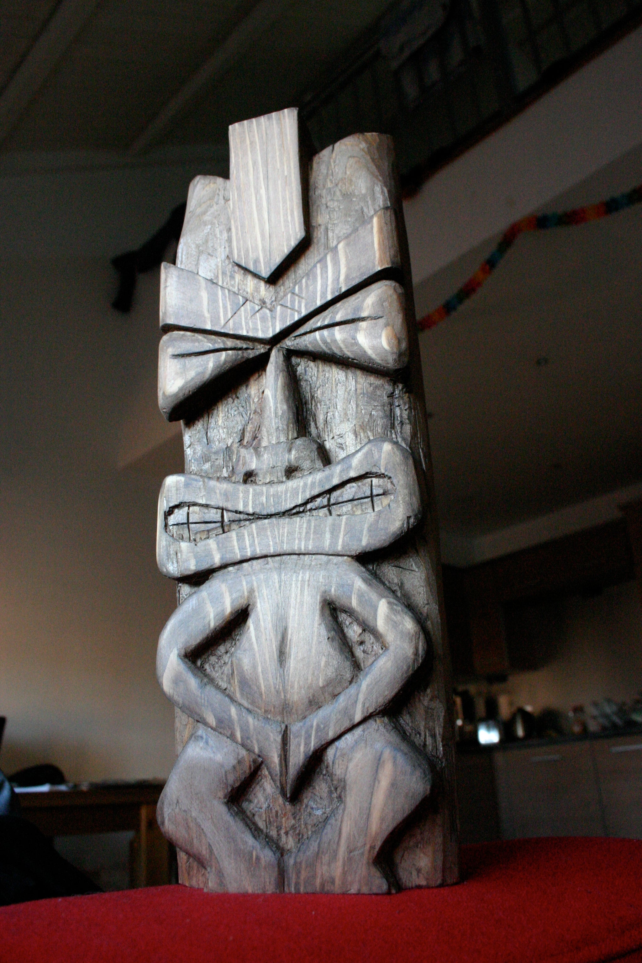 Chisel Carved Tiki Idol 5 Steps With Pictures