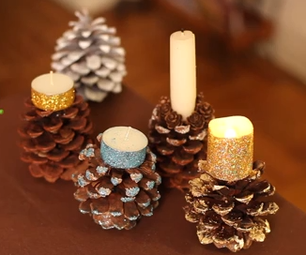How to Make Pine Cone Candle Holders