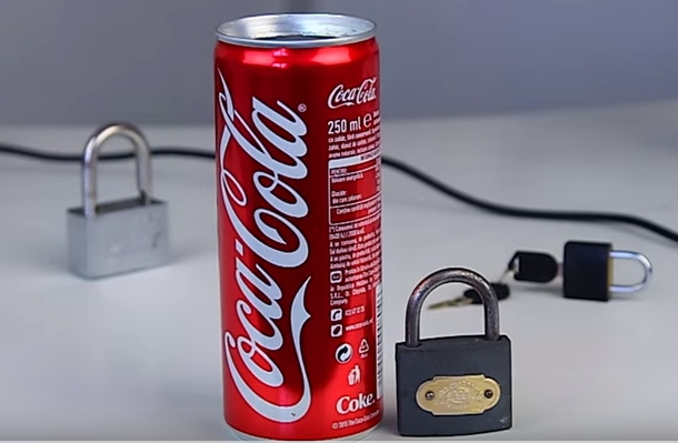 Picture of To Do Open a Lock With a Coke Can You Need!!!