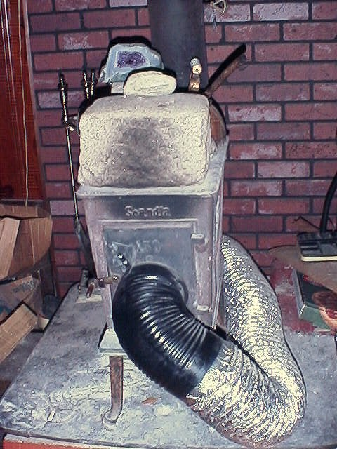 Fresh Air Intake for a Woodstove or Wood Heater W/ Round Intake