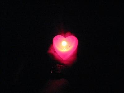Glowing LED Heart Light