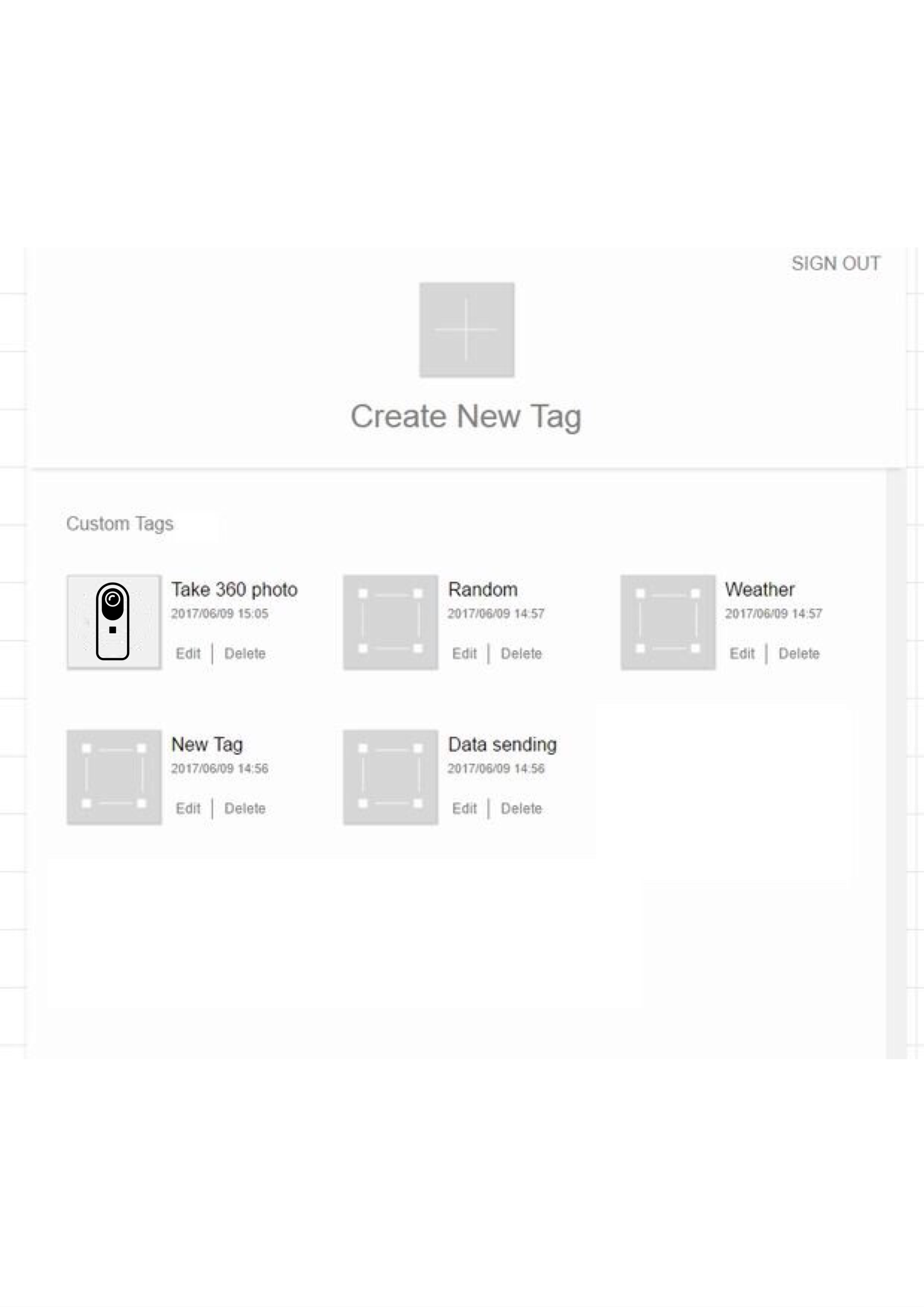 Picture of Import Code to Create RICOH THETA Custom Tag