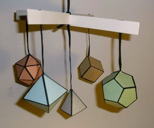 Educational Mobile With Platonic Solids