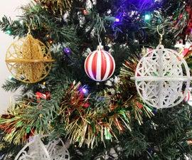 Glitter Acrylic Christmas Ornaments