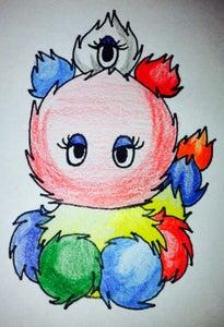Cute Pom Pom Alien