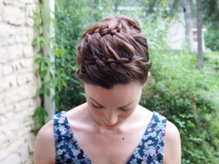 Double Braided Updo Hairstyle 3 Steps With Pictures Instructables