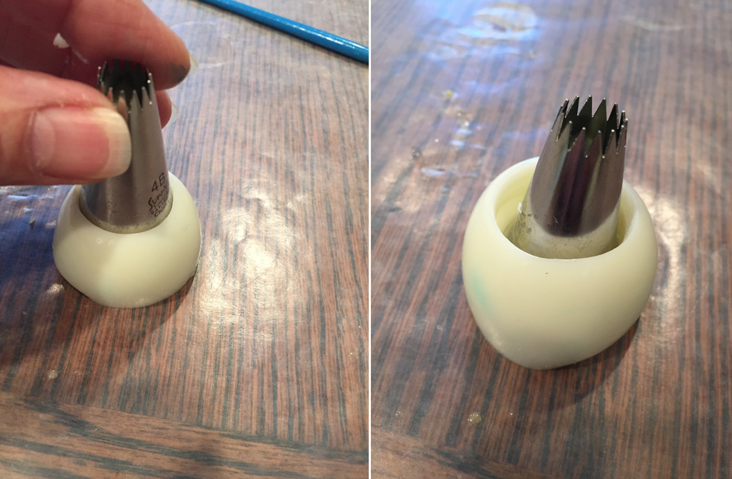 Picture of Creating Egg White Eye and Iris Plug
