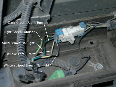 how to connect trailer wiring 2003 chevy s 10 pickup 9 steps rh instructables com chevy s10 radio wiring harness 2000 chevy s10 wiring harness