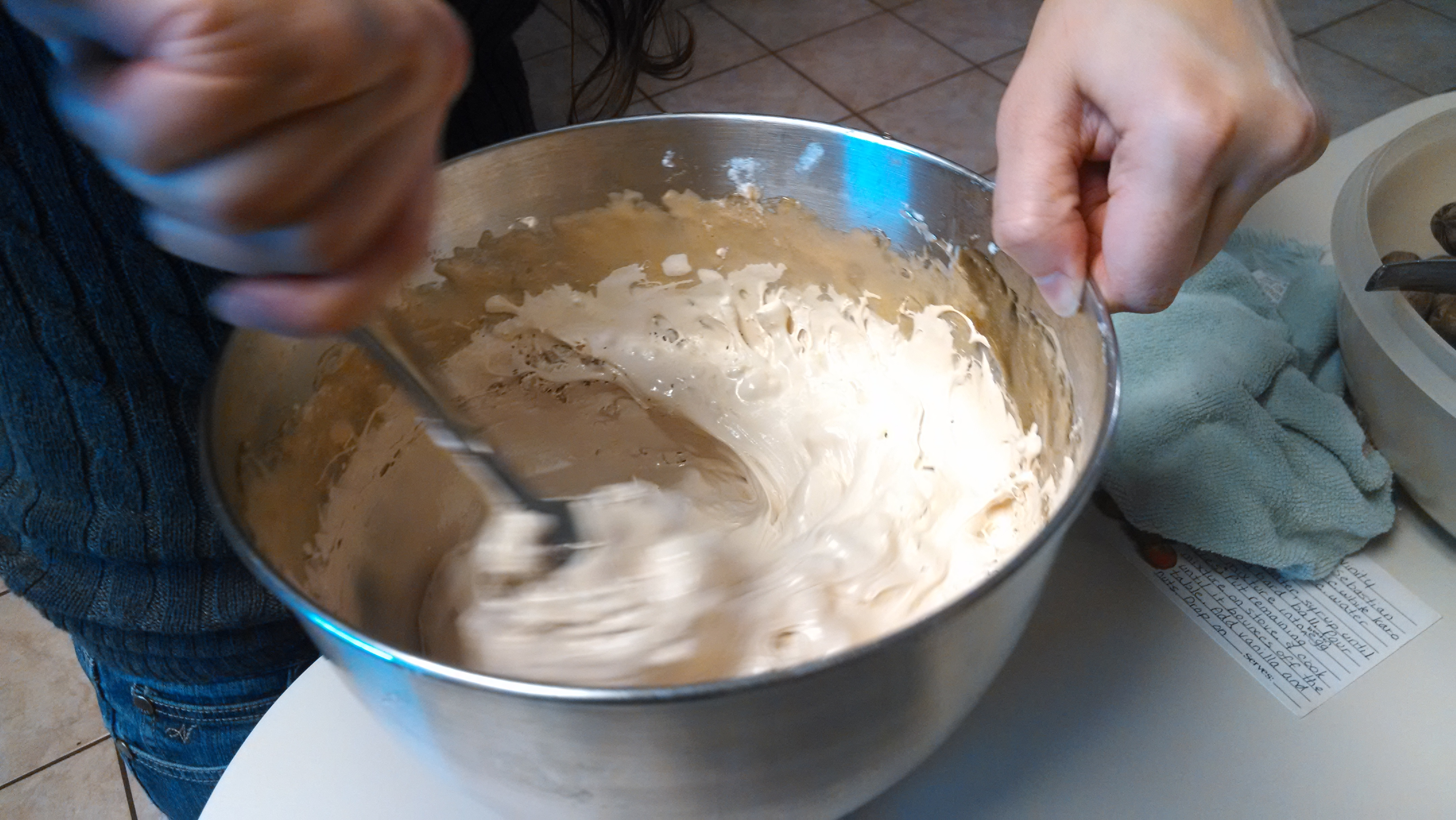 Picture of Add Vanilla, Pecans and Spoon